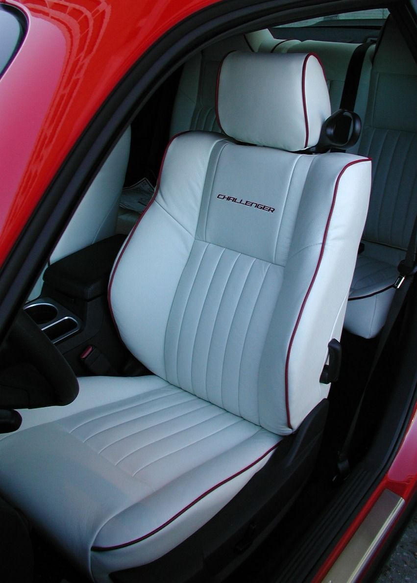 White Leather Seats; Custom Leather Interior   Dodge Challenger