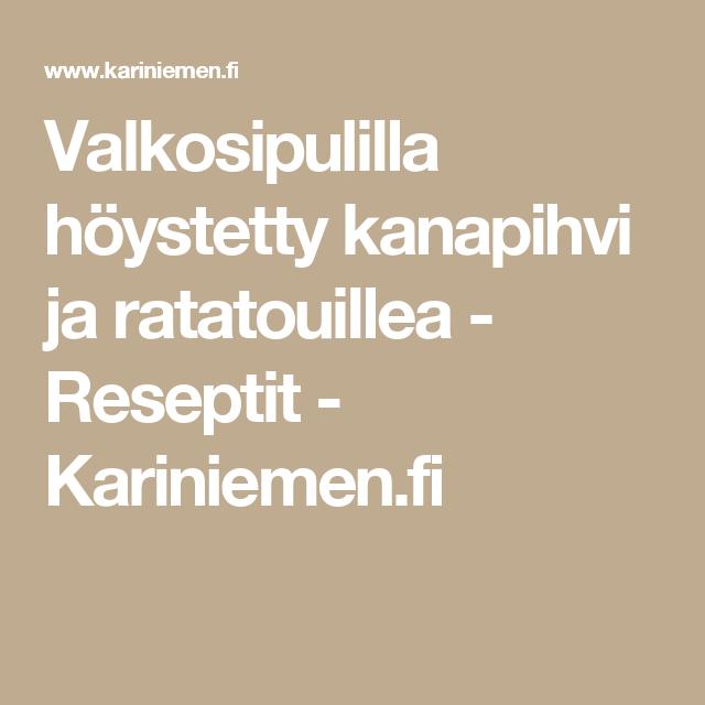 Valkosipulilla höystetty kanapihvi ja ratatouillea - Reseptit - Kariniemen.fi