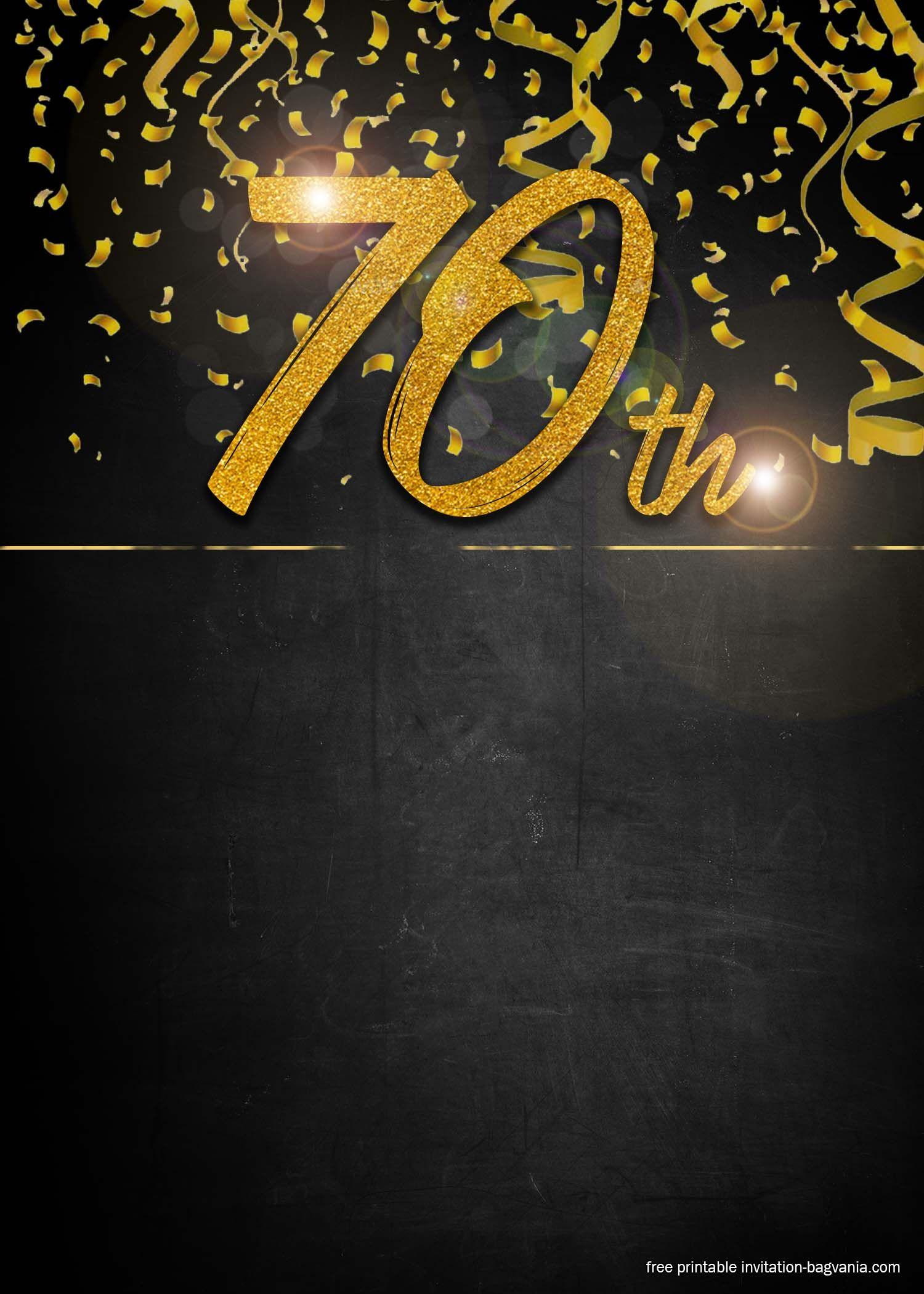 Free Printable 70th Birthday Invitation Templates 70th Birthday Invitations Birthday Invitation Templates Birthday Invitations 70th birthday invitation templates free