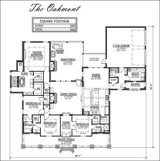 Madden Home Design The Oakmont Plans Pinterest