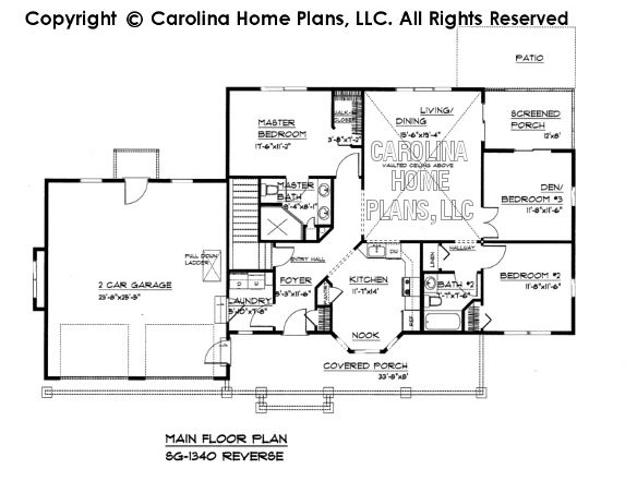 small craftsman style house plan sg-1340 sq ft | affordable small