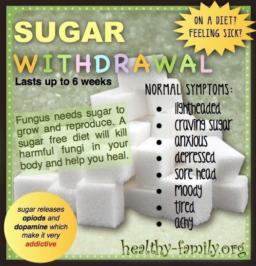 Feeling sick? Learn the reasons why sugar withdrawal causes you to