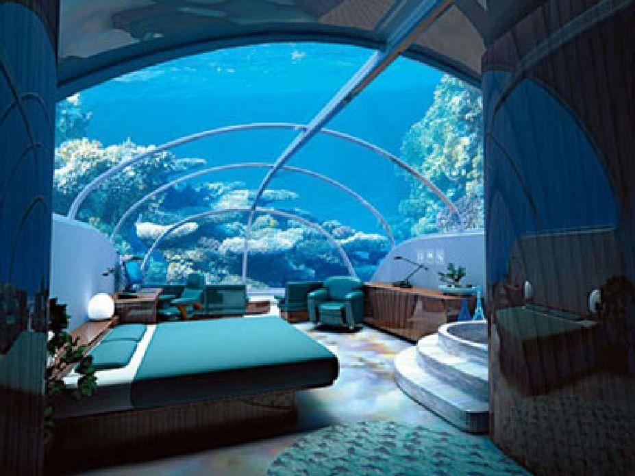 Interior, Fantastic Under Water Hotel Room