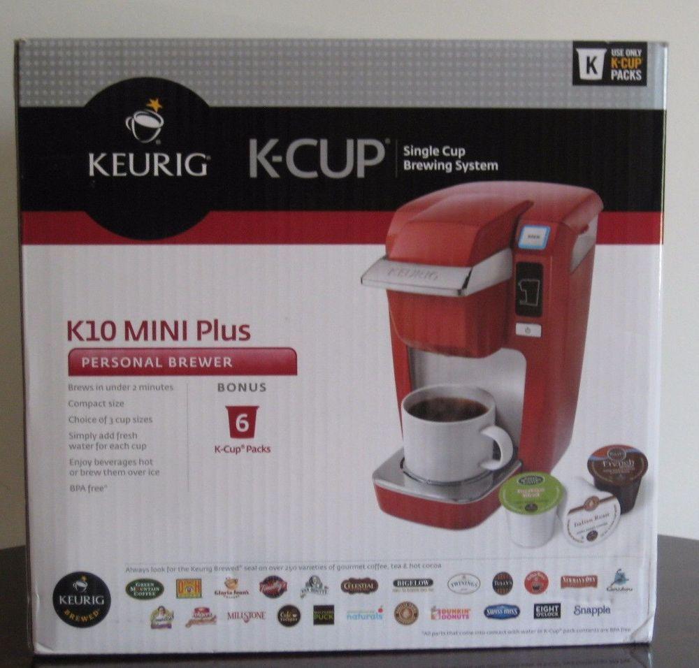 Keurig K10 Mini Plus Red K Cup Personal Brewer Single Cup Brewing