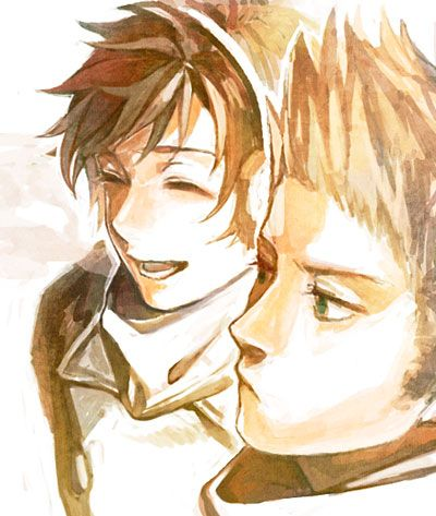Antonio and Willem (head-canon name for Netherlands) - Art by 団居シロー