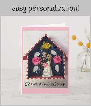 Photo of Congratulations Wedding Skeletons Card