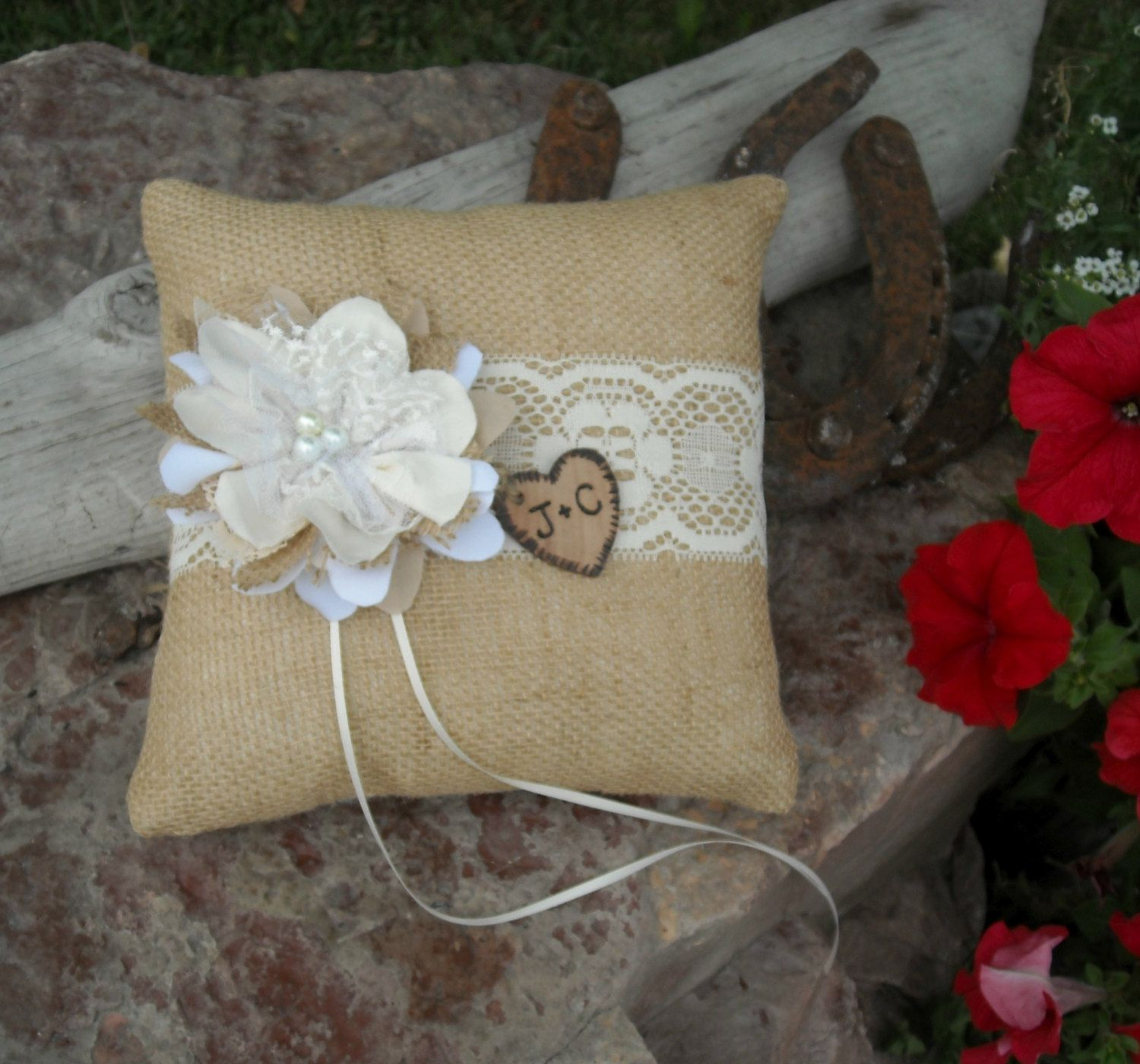 Personalized Ring Bearer Pillow Rustic by MyMontanaHomestead, $20.00 ...