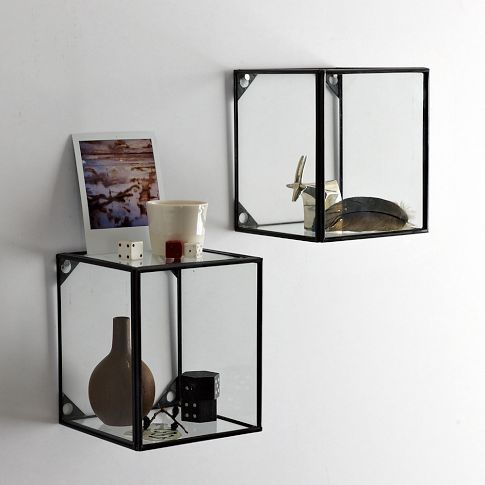 wall mount glass display boxes for tiny treasures to precious to store away westelm