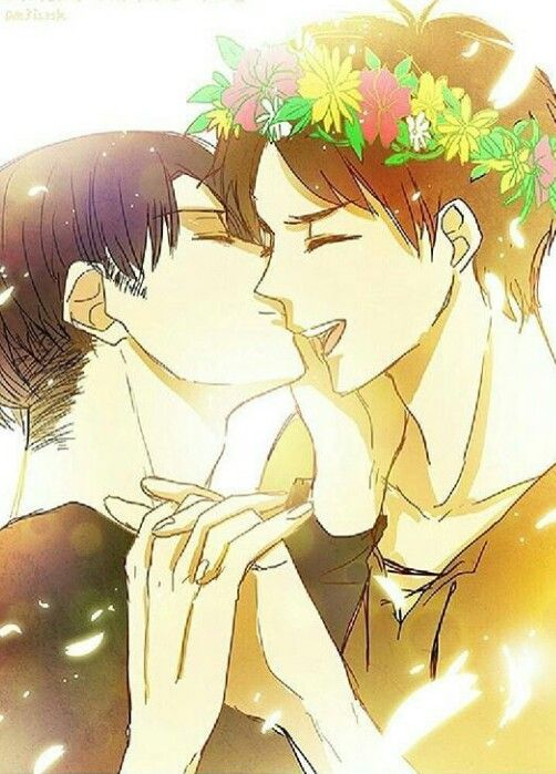 My little flower child Eren | Ereri | Ereri, Attack on titan