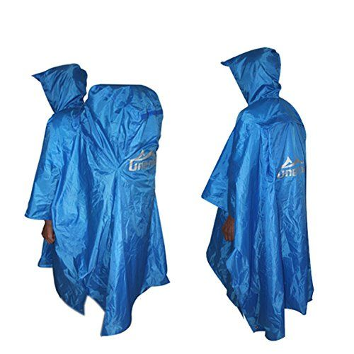 Ab Crew 3 In 1 Lightweight Backpack Rain Poncho Outdoor Raincoat For Travel Camping Hiking Dampproof Mat Sunshade Large 55x9 Raincoat Hiking Camping And Hiking