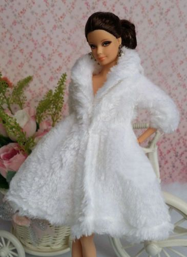 Lovely Fashion Winter fur Coats Clothes//Outfit+Boots For 11.5in.Doll C013