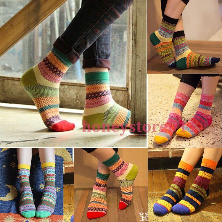Unisex Streep Katoenen Sokken Ontwerp Multi-color Mode Jurk Mannen vrouwen Sokken