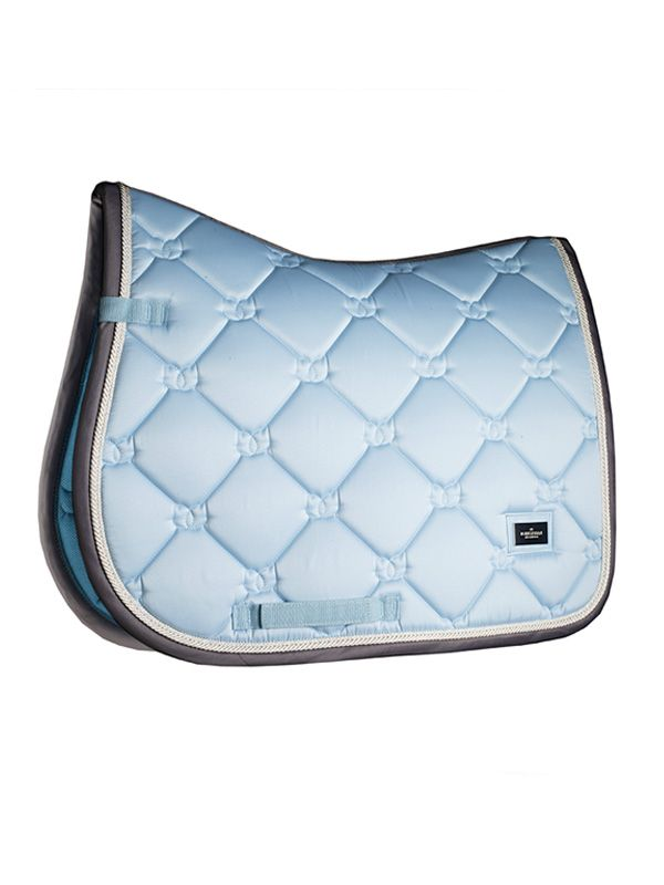 The Most Beautiful Saddle Pad This Season Beautiful Jumping Saddle Pad In Ice Blue Color With Grey Details Saddle Pads Jumping Saddle Pads Equestrian Outfits