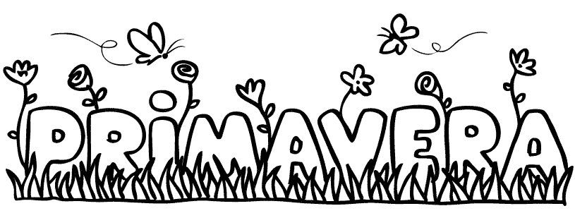 Dibujo de la palabra primavera. Imágenes para colorear ...