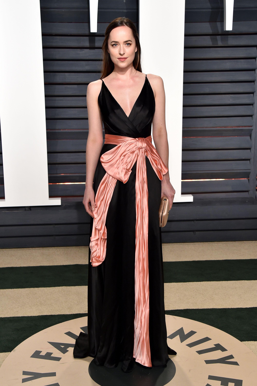 Dakota Johnson attends Vanity Fair Oscar Party