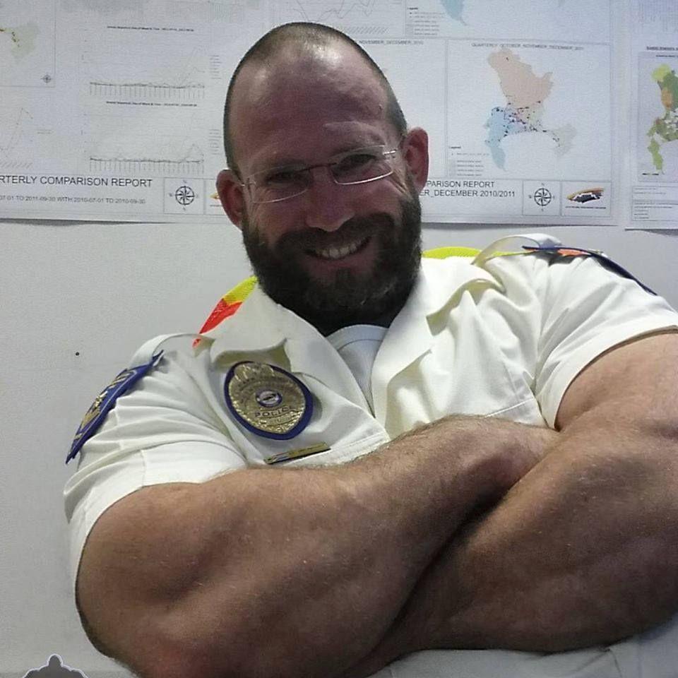 Hairy muscle bear uniform