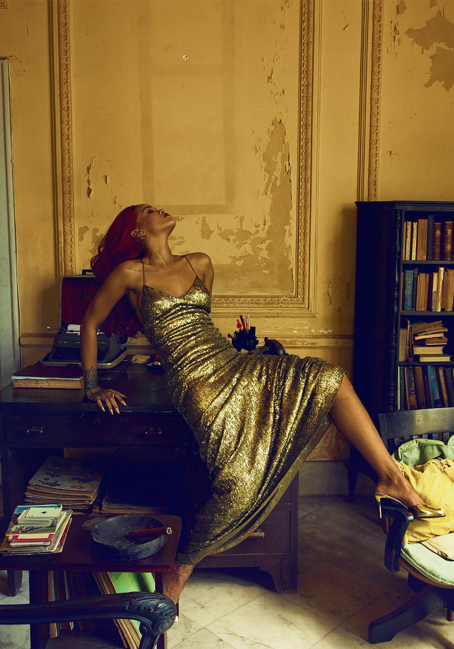 Havana Nights: Rihanna captured by Annie Lebovitz in Cuba wears RL Collection for Vanity Fair