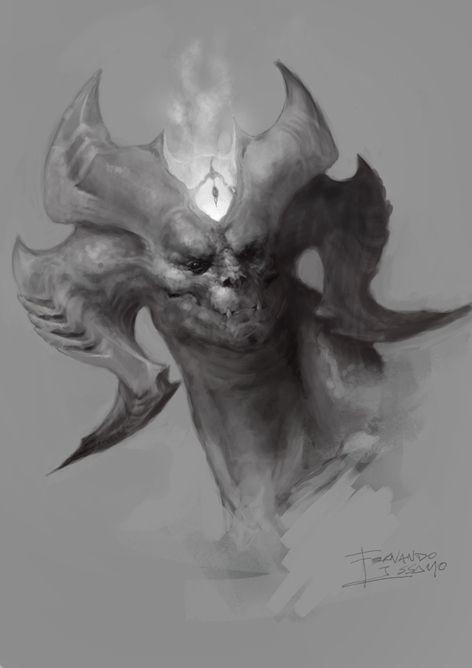Horns Demon Creature Design Creature Concept Art Character Art