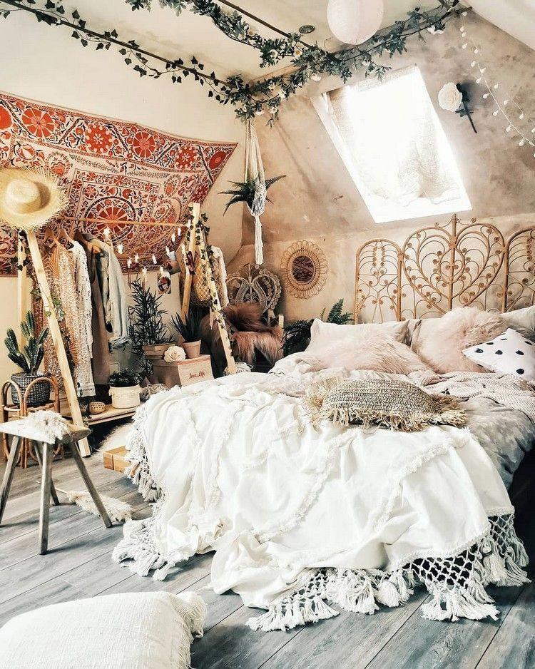 Bohemian Bedroom Design #bohemianbedroom Bohemian Bedroom bedroom Bohemian bohem... #bohemianbedrooms