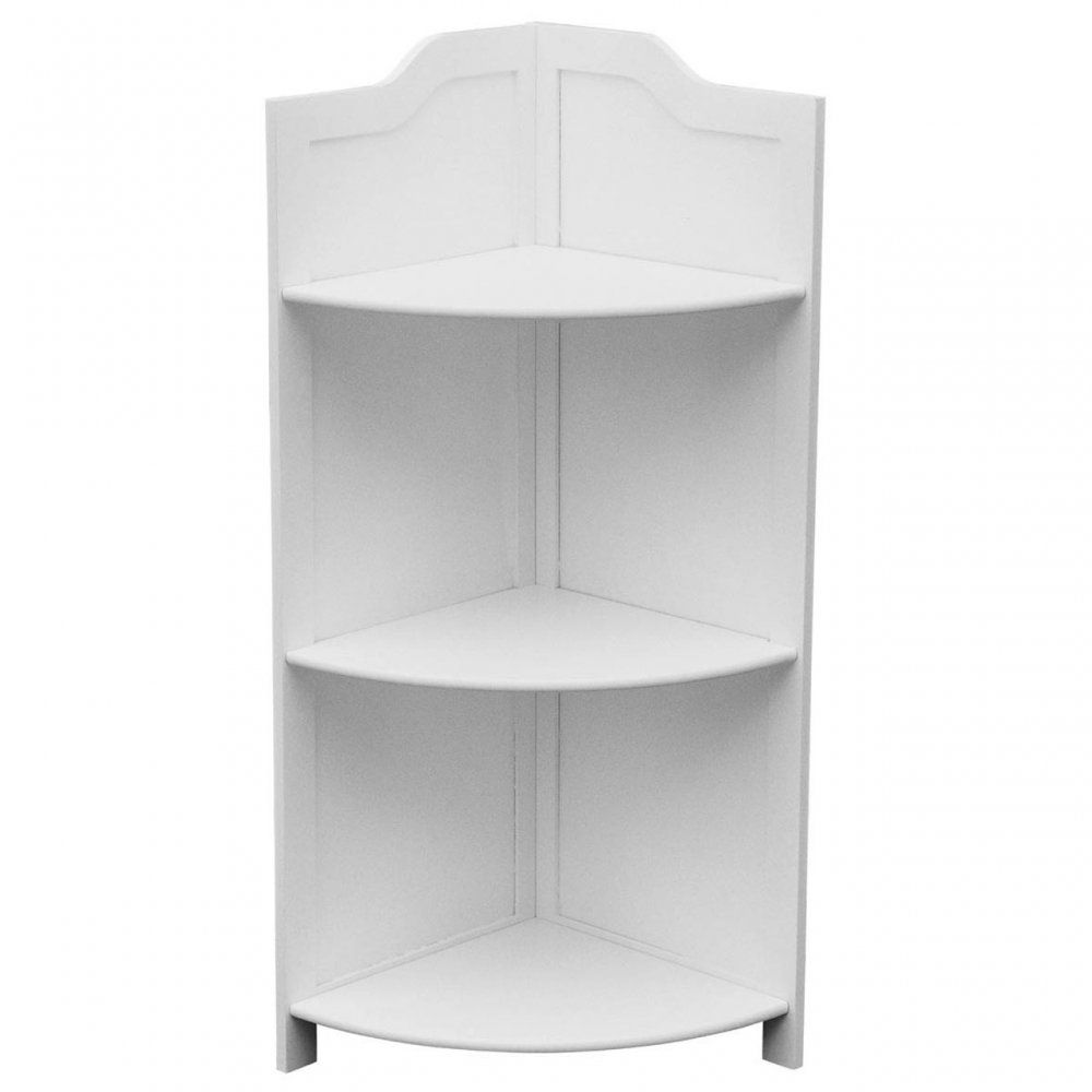 Corner Shelf Unit Bathroom Furniture Uk Floor Standing White Wood Corner Shelf Unit