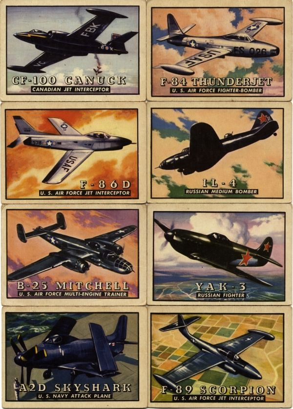 TOPPS Wings Airplane Trading Cards ... including the F-84 ...