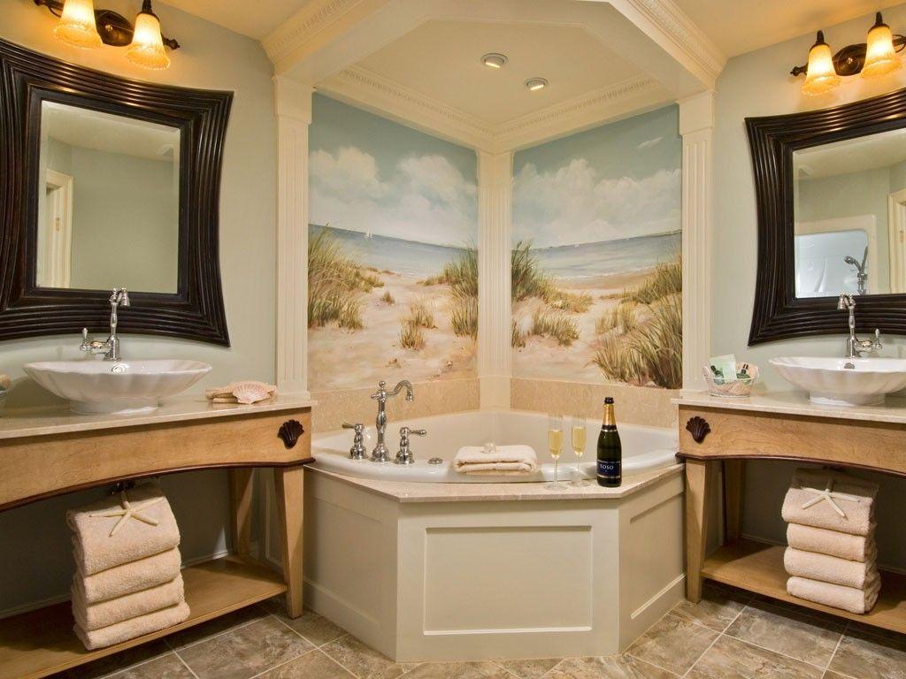 Master bath - 2 person jet tub, steam shower and deluxe bath ...