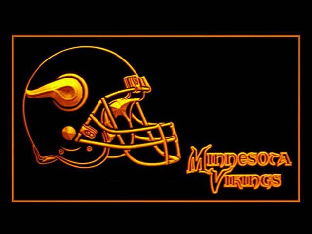 Minnesota Vikings Helmet Shop Neon Light Sign