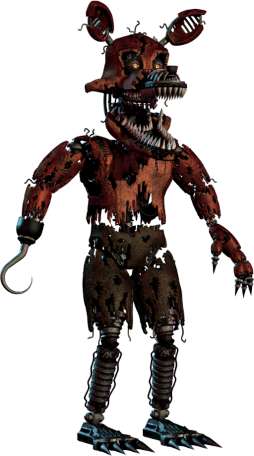 Full Body Photo Of Nightmare Foxy From Five Nights At Freddy S 4 Fnaf4 Fnaf Five Nights At Freddy S Fnaf Foxy