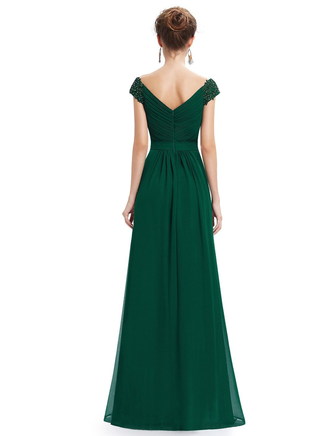 Elegant Beaded Off Shoulder Evening Gown | Ever-Pretty ...