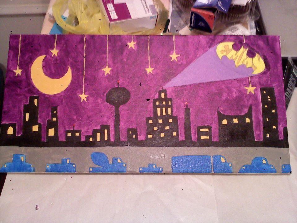 Batman Cityscape for my bf's niece.