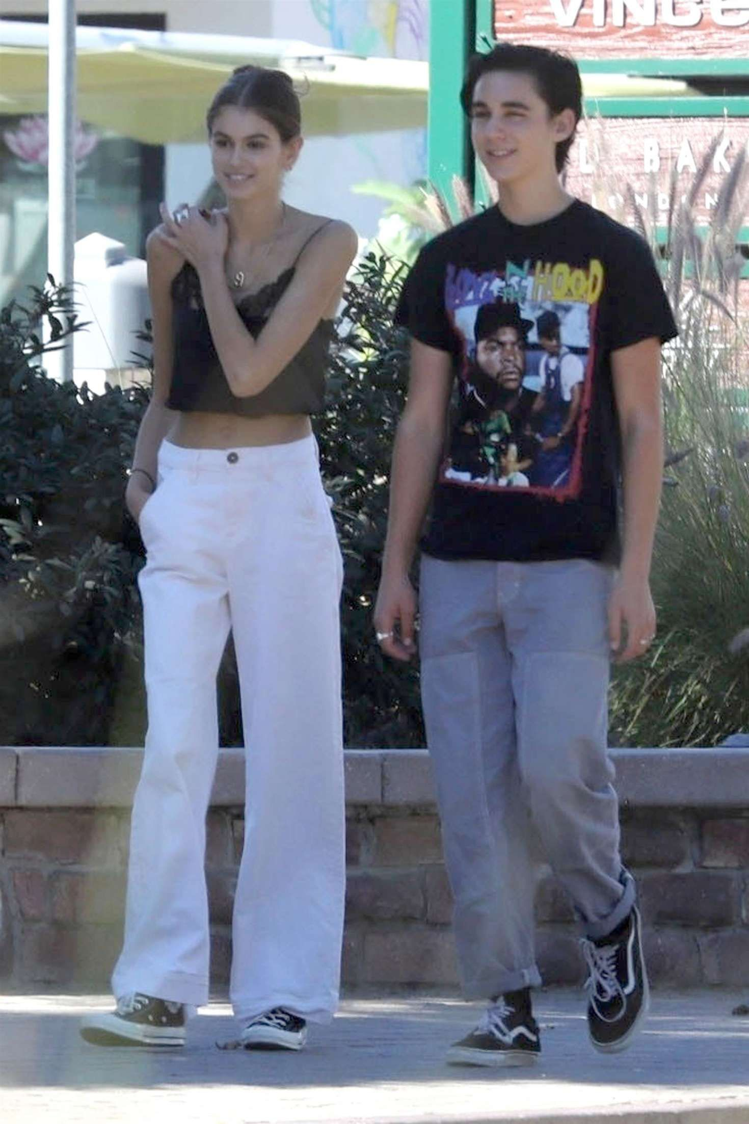 76d1dffd08a Kaia Gerber - With a friend out in Malibu