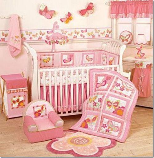 Decoraci n para dormitorios bebe ni a dise o y for Decoracion para bebe nina