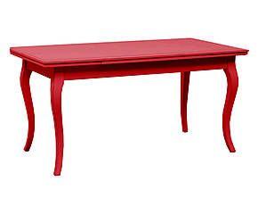 Tavolo estensibile in legno massiccio Diva rosso - 160/240x80x85 cm