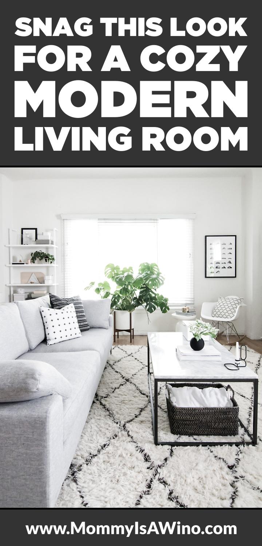 Snag This Look - Modern Living Room   Living room grey, Modern ...