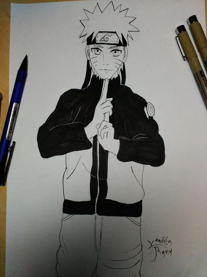 my naruto lineart