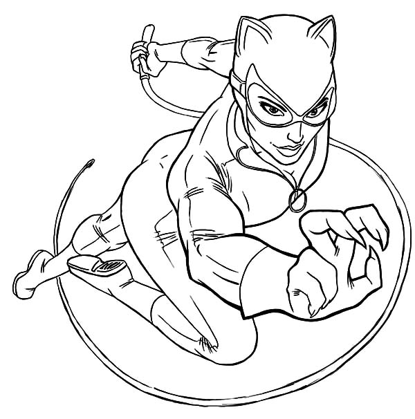 Cat Women In Action Coloring Pages Best Place To Color Superhero Coloring Pages Superhero Coloring Batman Coloring Pages