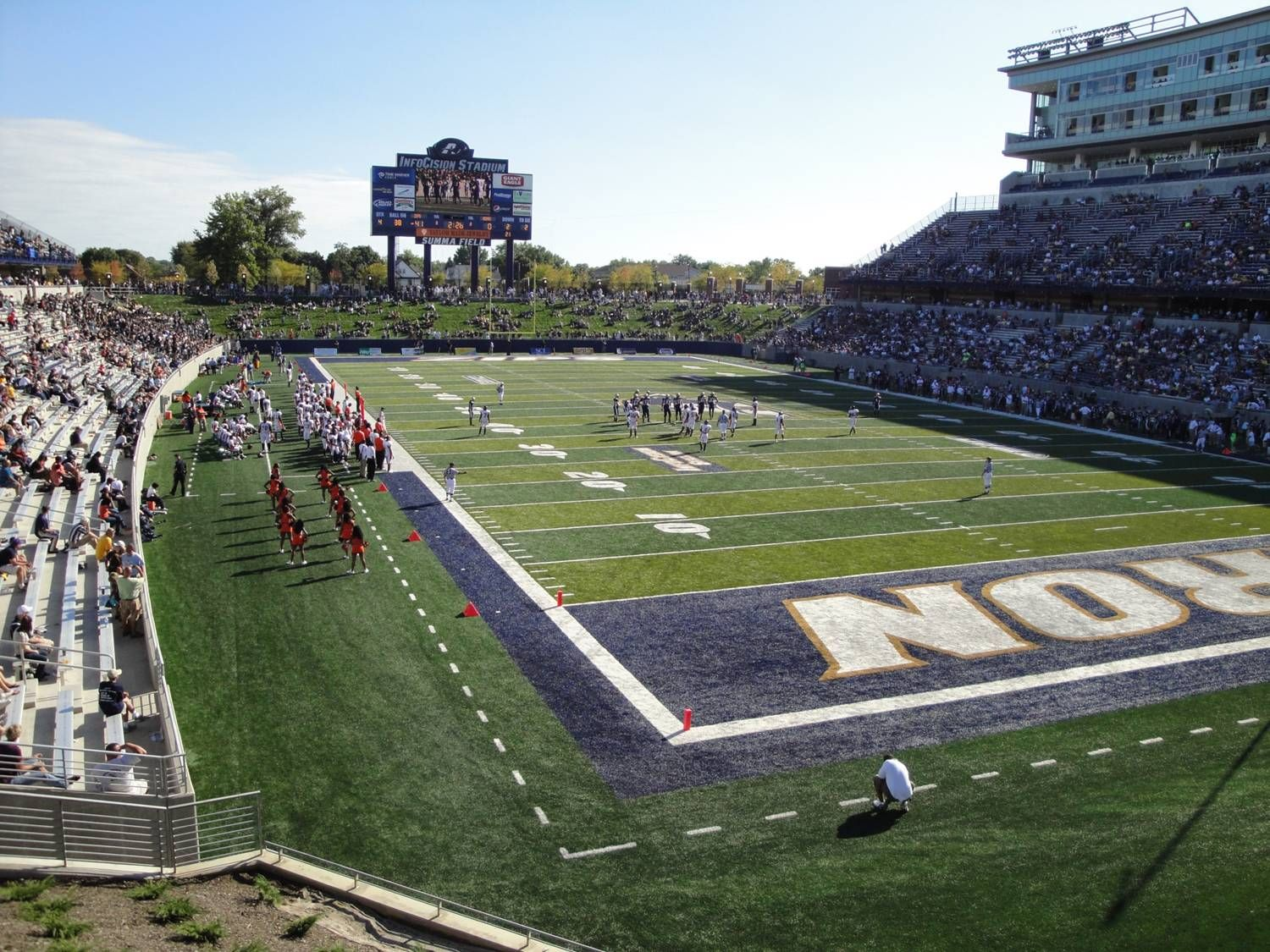 Akron Zips Infocision Football Stadium Akron Zips University Of Akron Akron