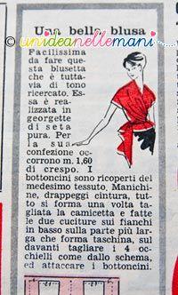 Ecco un modello di camicetta o blusa da donna facile da fare. Scarica il cartamodello  gratis 613c7fe51379