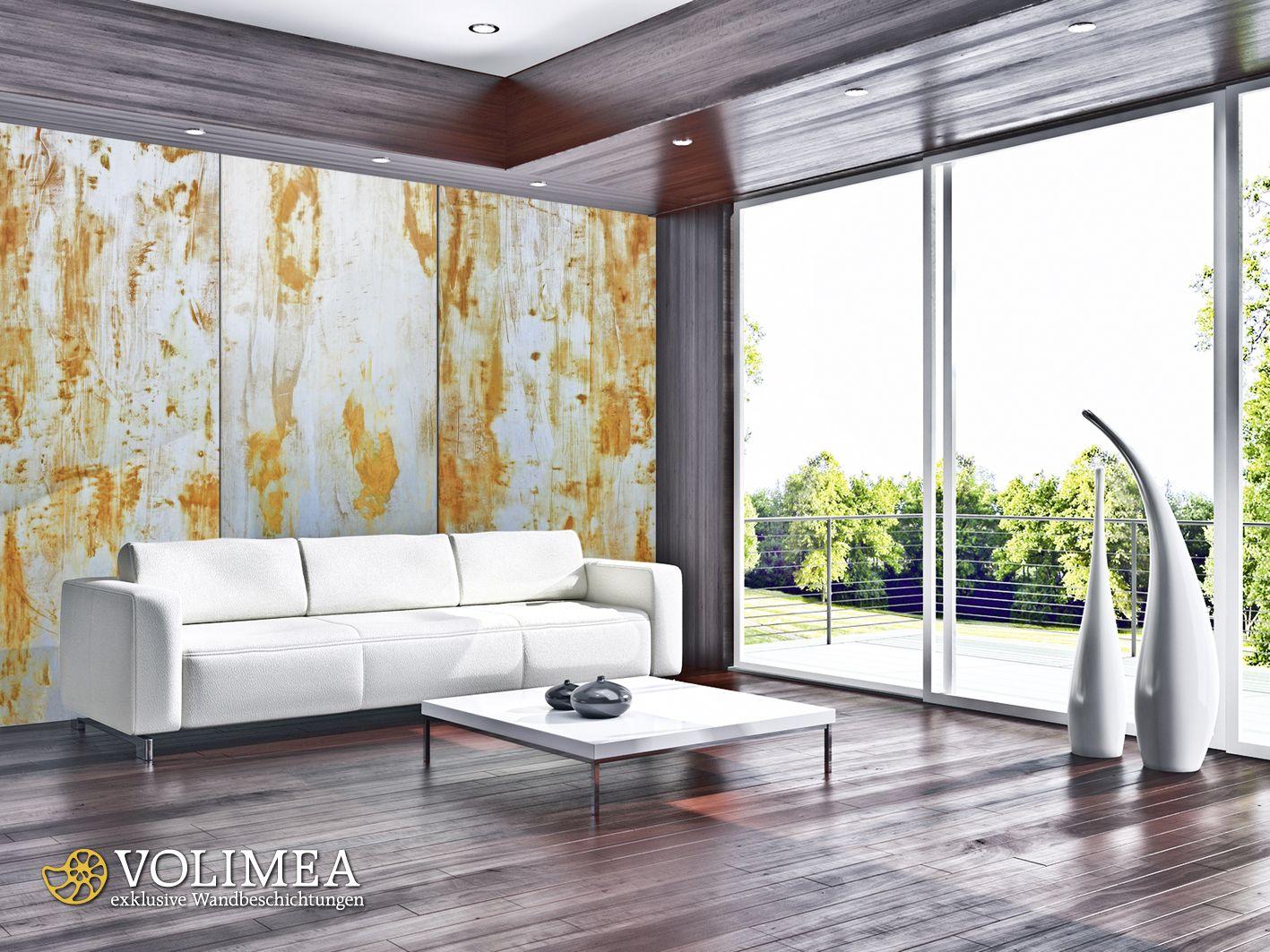 Schoner Wohnen Mit Rost Optik Von Volimea Wandbeschichtung Exklusive Wandbeschichtung Exklusive Verarbeitung In Raum Wandbeschichtungen Design Schoner Wohnen