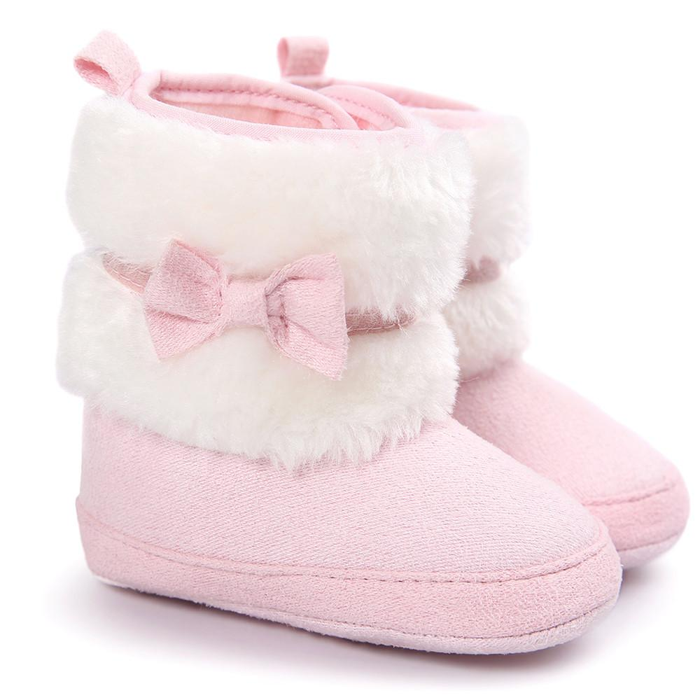 f86e19d1af258 Baby Girl Pink Bow-knot Booties | Baby Girl Accessories | Toddler ...