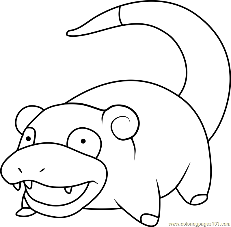 Slowpoke Pokemon Coloring Sheets Pokemon Coloring Pages Coloring Pages