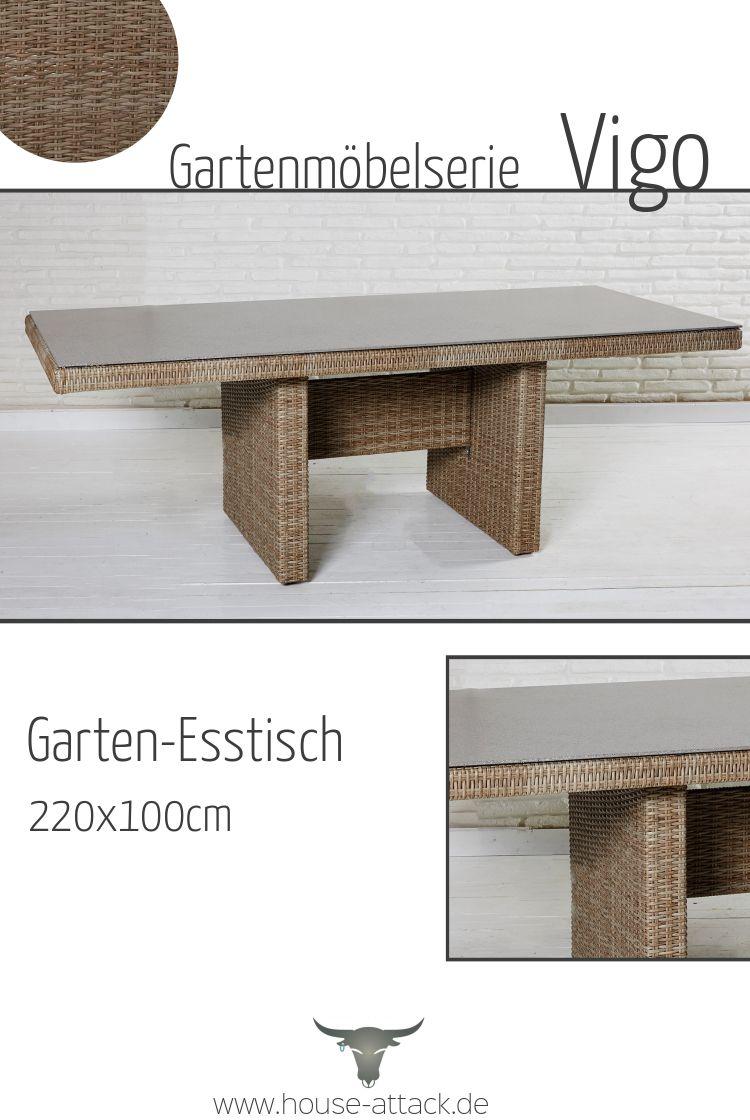 Lc Garden Gartentisch 220 X 100 Cm Vigo Dining Natur Esstisch