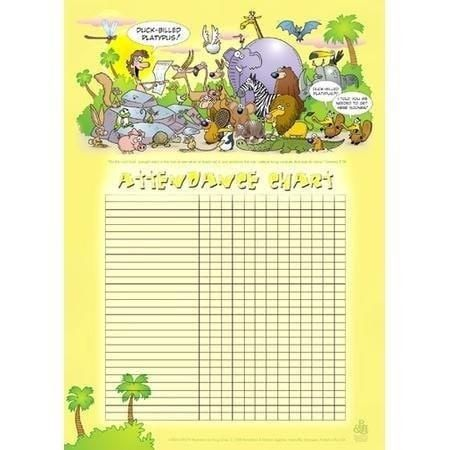 Attendance Chart--Adam Names The Animals Attendance chart - attendance chart template
