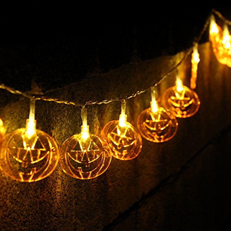 halloween pumpkin string lights jack o lantern 7 4ft battery 20 leds