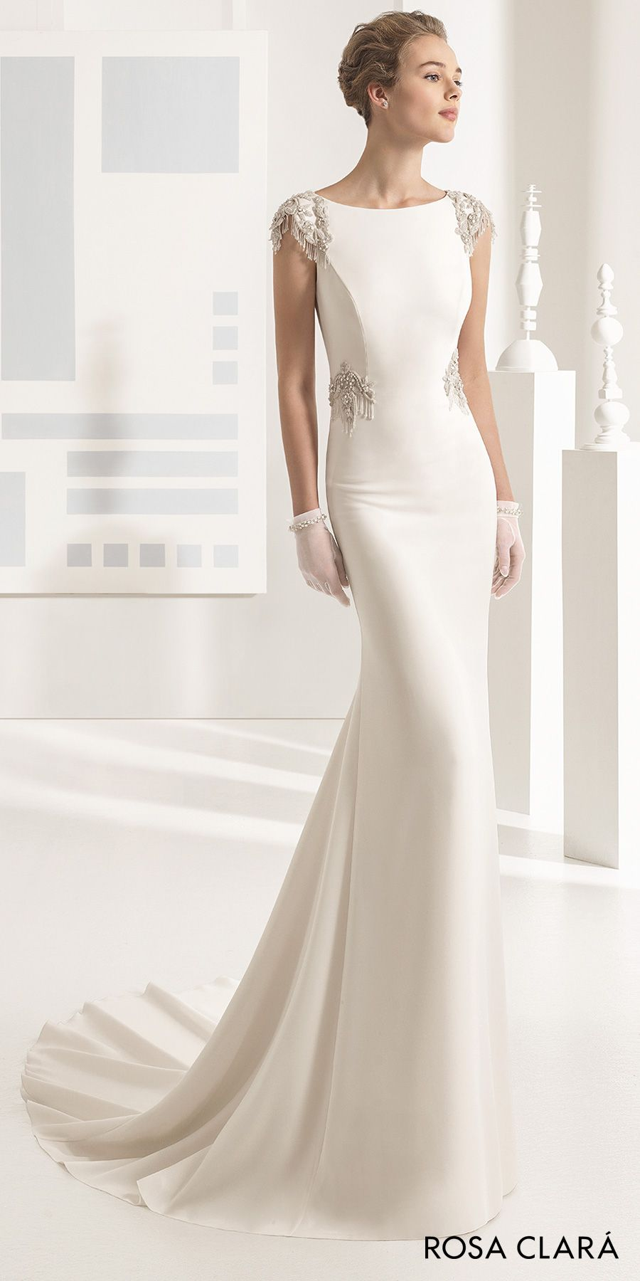Rosa Clara 2017 Bridal Collection These Wedding Dresses Feature Unforgettable Details Wedding Inspirasi Wedding Dress Long Sleeve Wedding Dresses Sheath Wedding Dress [ 1800 x 900 Pixel ]