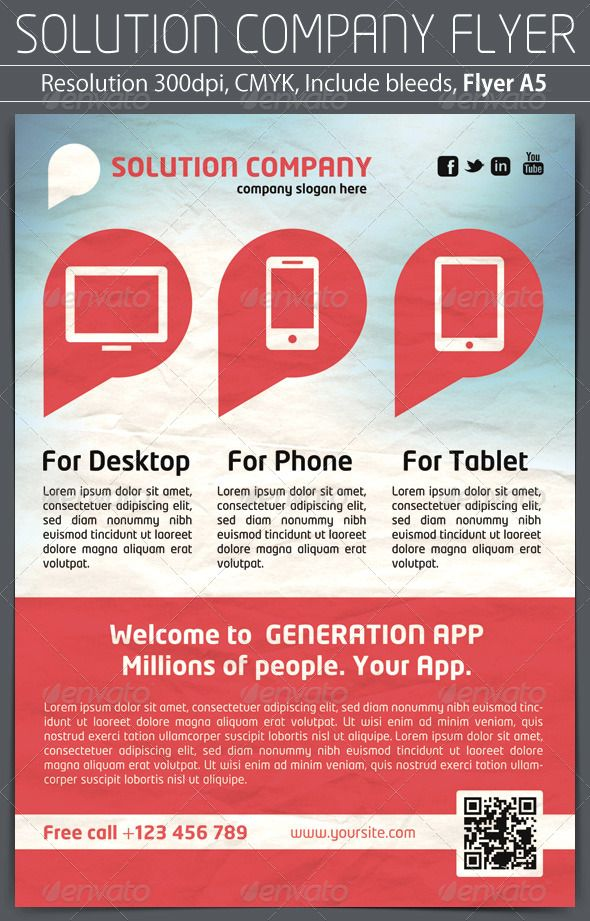 Solution Company Flyer | Business company and Business flyers
