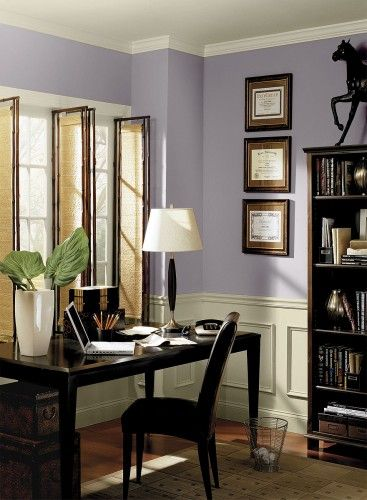 Benjamin Moore Wisteria Color Purple Home Offices