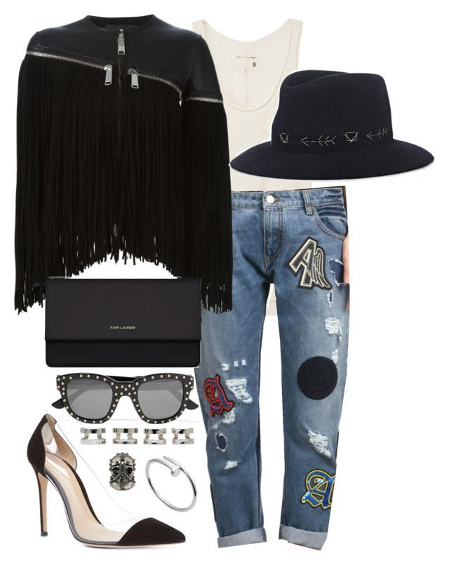 """""""Untitled #959"""" by malurodz ❤ liked on Polyvore featuring rag & bone, Amen., Dsquared2, Gianvito Rossi, Yves Saint Laurent, Alexander McQueen, Maison Margiela, Cartier and Albertus Swanepoel"""