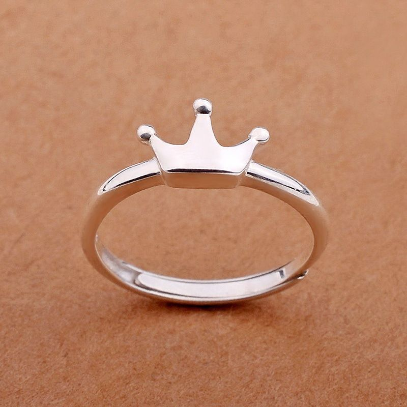 925 Sterling Silver Crown Rings for Women New Design Lovely Girls ...
