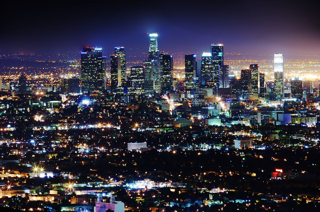L A Incredible Photos Of The City Page 9 Skyscrapercity City Lights At Night City Skyline